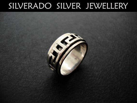 Sterling Silver 925 Greek Eternity Key by SilveradoJewellery, €48.00