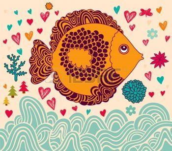 illustration avec des poissons photo