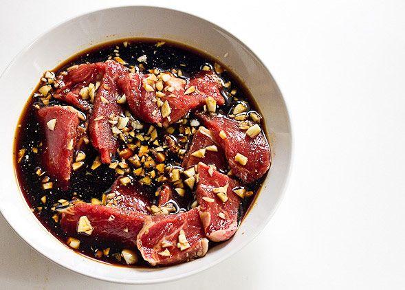 Filipino Bistek - Beef Marinated in Soy Sauce and Kumquat Juice // wishfulchef.com
