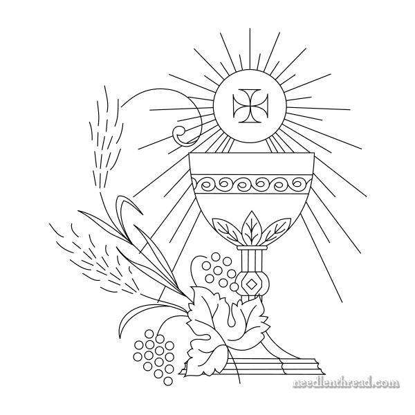Free ecclesiastical embroidery design - click through for the PDF!