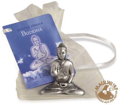 Zinnfigur Buddha sitzend, ca. 5cm Sonderpreis! - Esoterikshop- Esoterik Produkte aus aller Welt