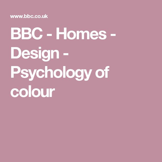 BBC - Homes - Design - Psychology of colour