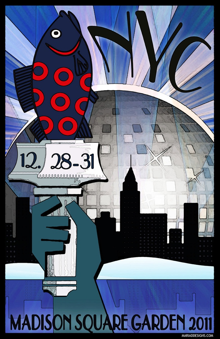 Phish poster madison square garden nyc nye 2011 phish - Phish madison square garden tickets ...