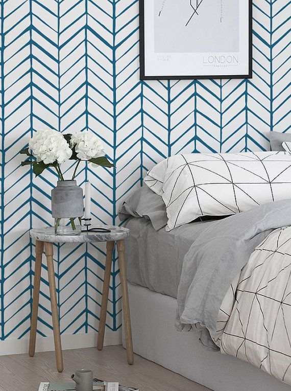 removable wallpaper self adhesive wallpaper herringbone wallpaper modern wall covering. Black Bedroom Furniture Sets. Home Design Ideas