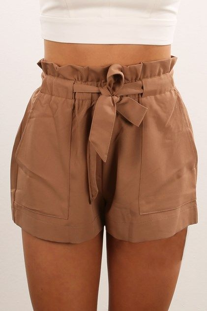 impactful tan shorts outfit jeans