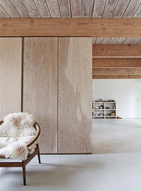 #home #wood #concrete #floor #interior #inspiration