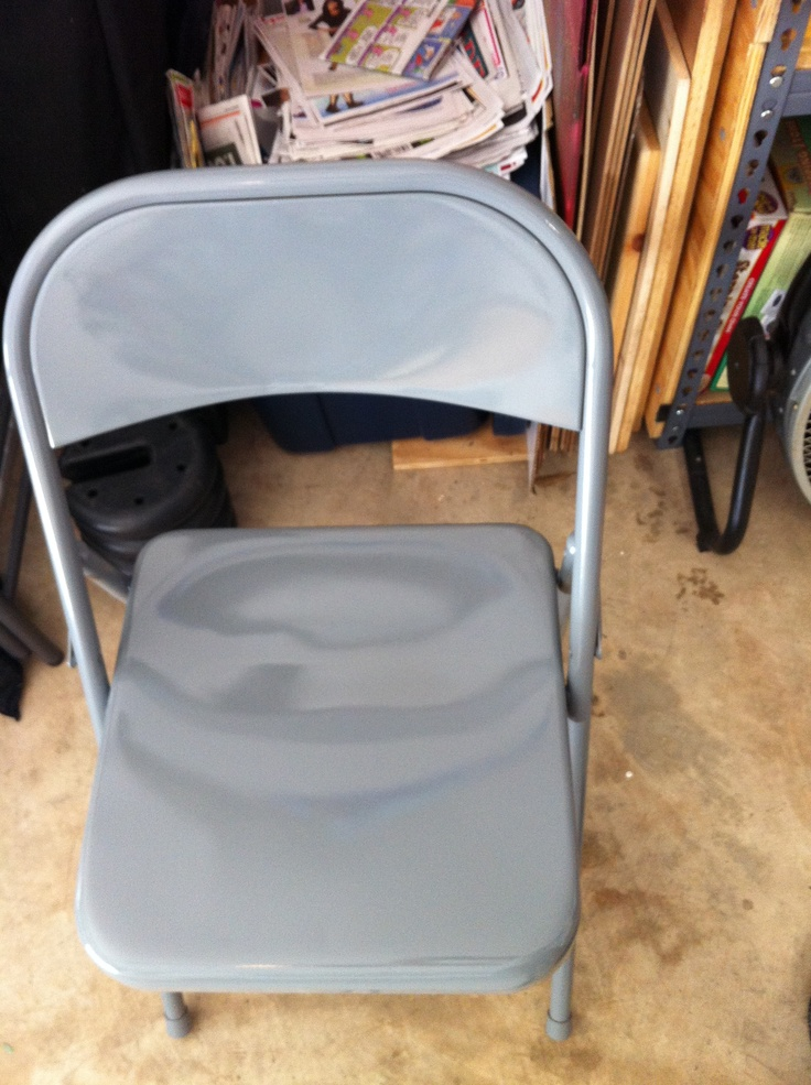 1000 Ideas About Metal Folding Chairs On Pinterest Folding Chairs Spray Painting Metal And