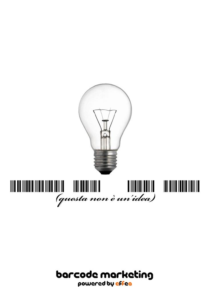 """Barcode """"Questa non è un'idea"""""""
