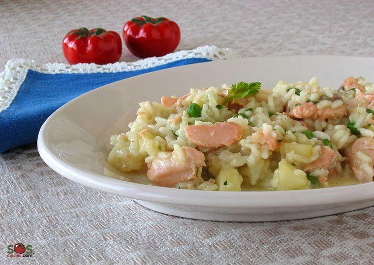 """SOSCuisine: """"#Risotto"""" au #saumon [mijoteuse] Congelable, très facile, coeur et artères en santé!"""