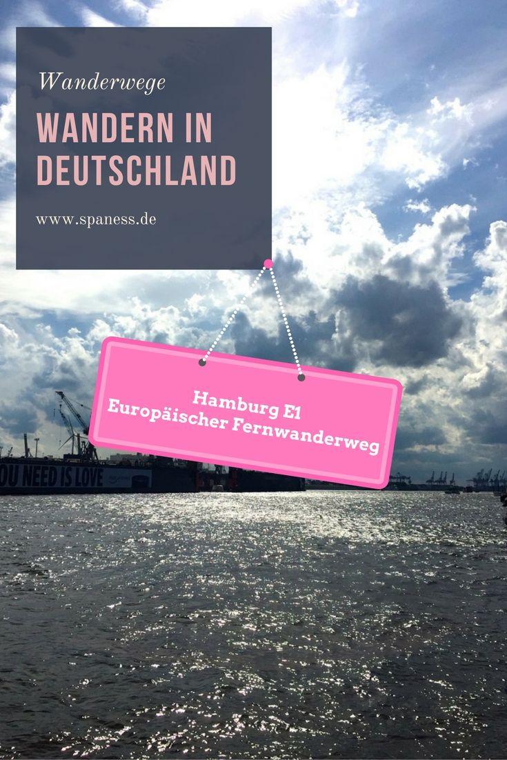 Wandern Deutschland - Europäischer Fernwanderweg E1 - Etappe Wandern Hamburg.
