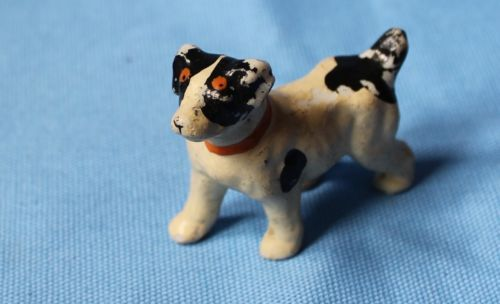 Vtg-Doll-House-Miniature-Character-Dog-Japan-Antique-Painted-Bisque-Accessory