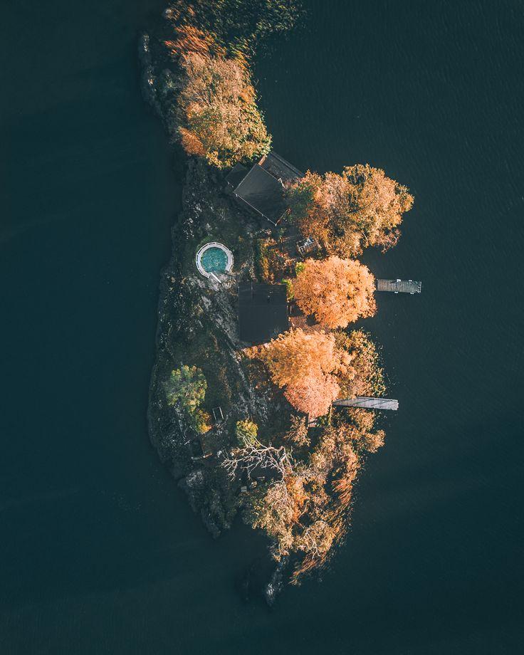 Autumn Island in Sweden