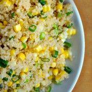 Quinoa with Corn and Scallions Recipe | Just a Taste