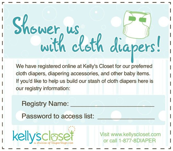 Perfect Baby Shower Diaper Raffle For CLOTH DIAPERS