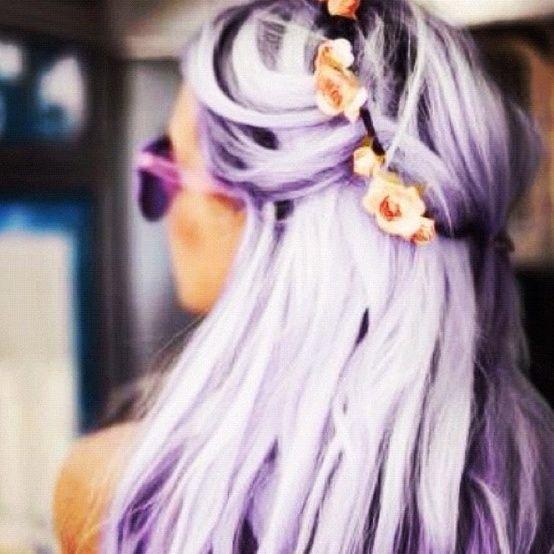 Purple hair.❤️