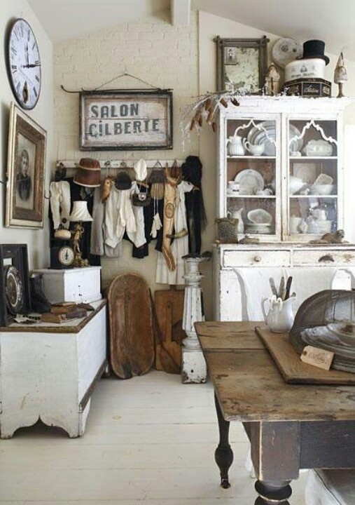 Love the display of vintage clothing