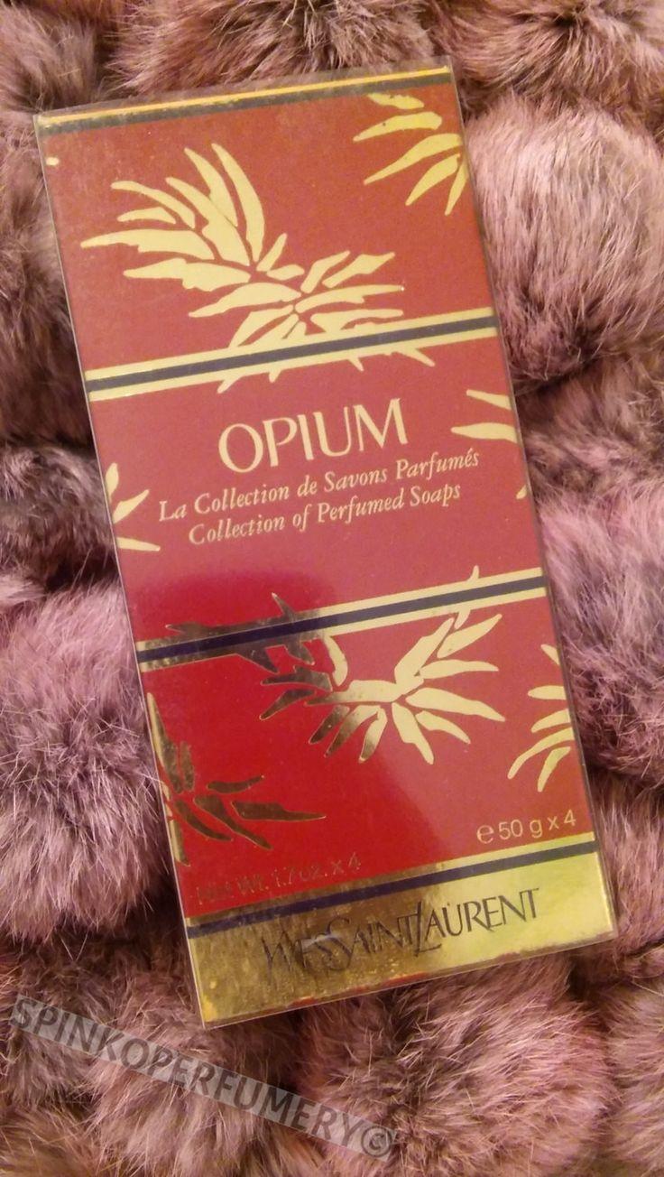 Vintage 1993 Yves Saint Laurent Opium Perfume Soaps 4 (50g) Piece Gift Set