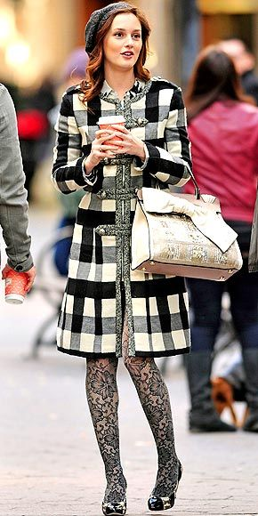 Blair Waldorf always looks so put together.  My favorite coat she's ever worn.