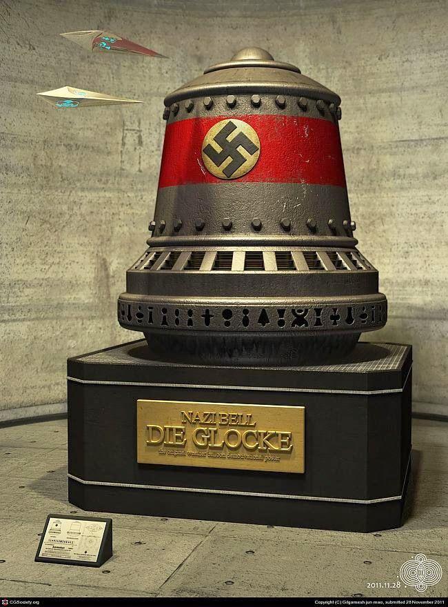 """LA CAMPANA NAZI: La Alemania Nazi estaba trabajando en un proyecto secreto durante la Segunda Guerra Mundial, que ha sido bautizado como """"Wunderwaffe"""", o el Arma maravilla. Tenía otros nombres, """"la campana nazi"""" """"Die Glocke"""" entre otros. Este aparato o artilugio que los nazis estaban construyendo supuestamente estaba probando las teorías anti-gravedad que tan en boga estaban en ese tiempo, así como crear súper hombres."""