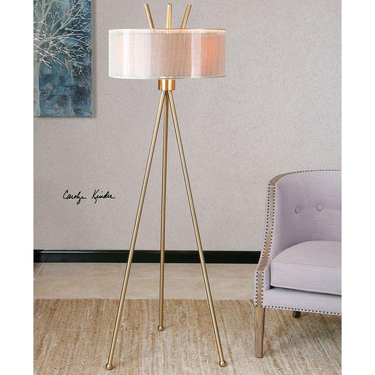 Uttermost Karita Coffee Bronze , Beige Floor Lamp 28890-1