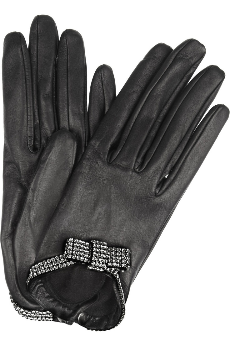 Womens leather gloves vancouver - Causse Gantier Grace Swarovski Crystal Embellished Leather Gloves Net A Porter