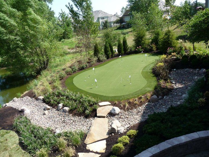 Personalized Synthetic Putting Green added to Landscaping