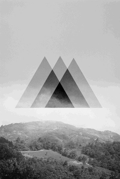 3 mountains triangle black - Google Search
