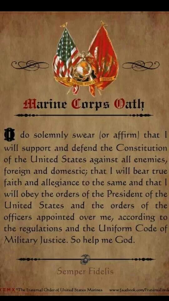 Oath of enlistment | USMC | Pinterest