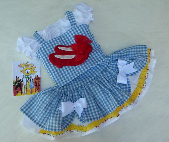 Toddler Pageant Costume Dress, Dorothy from the Wizard of Oz, Made to Order in sizes 12 month through 5