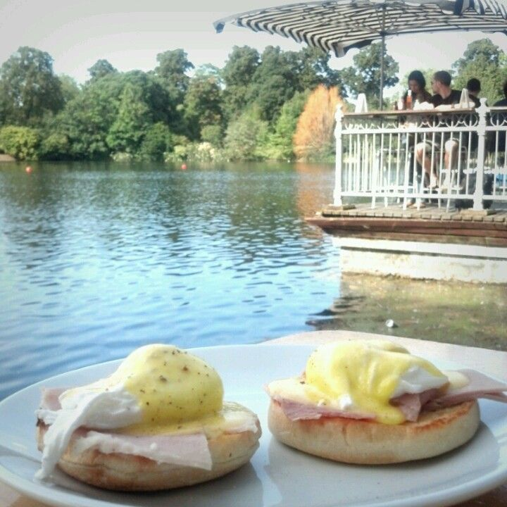 Pavilion Cafe in Bow, Greater London. Great Brekkie with a a beautiful view.