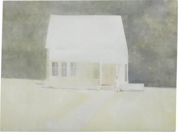 The first day (House with man)  by Janis Avotins