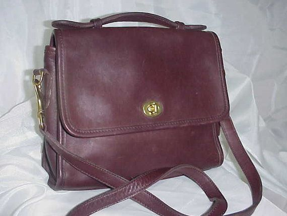 Coach Messenger Bag Classic Coach Coffee Bean Color Crossover Shoulder Bag/Purse  Made in USA.  LOVE. 62 on etsy.