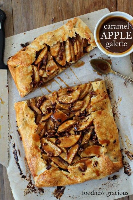 Caramel Apple Pecan Galette   Foodness Gracious