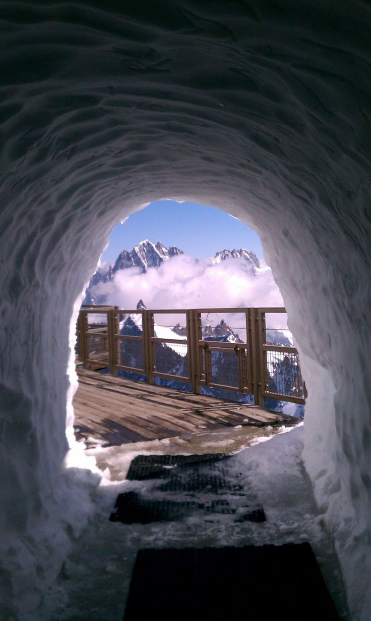 Chamonix Mont-Blanc. It was freezing up there in the middle of summer