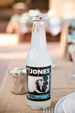Customized Jones Sodas for the wedding (mint green color)