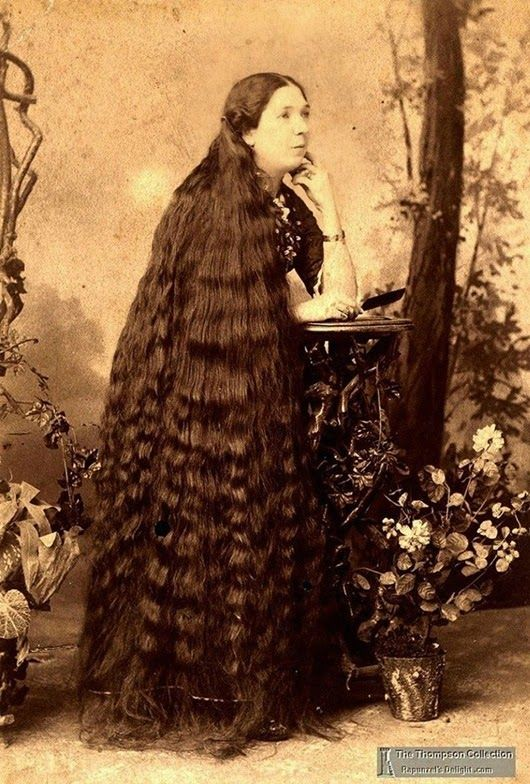 Queen Of Hair Of The 19th Century Long Hair Styles