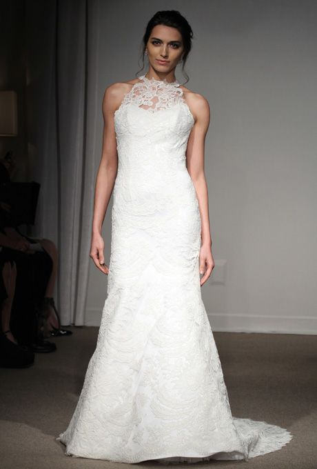 This Neckline Style Could Be Created With Lace Or Tulle On