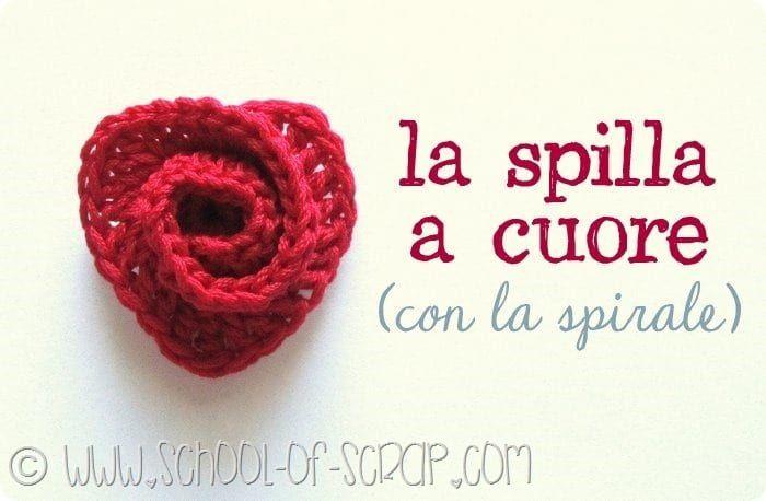 Scuola di Uncinetto: la spilla con il cuore a spirale
