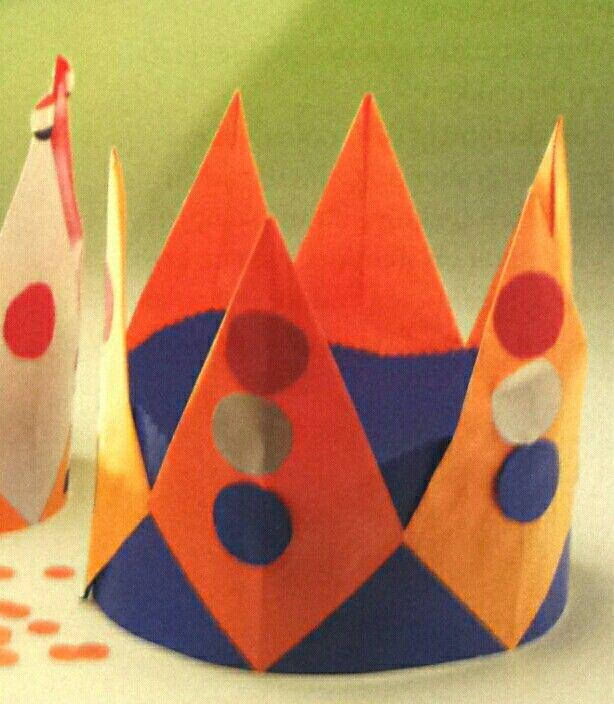 Een kroon met vliegers, leuk idee!