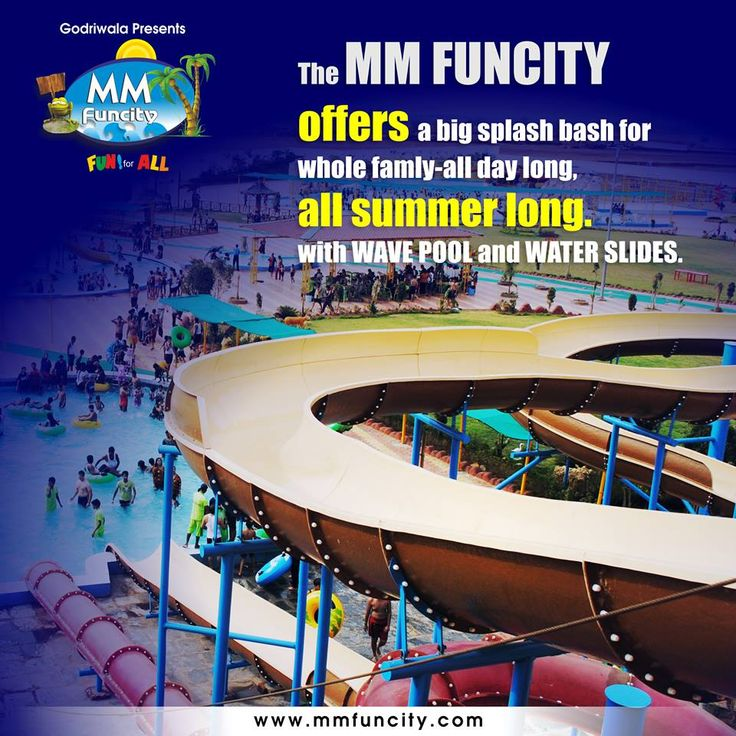 The MM FUN CITY offers a big splash bash for whole famly-all day long, all summer long with WAVE POOL and WATER SLIDES.  For More: https://goo.gl/Su9dWZ  #MMFUNCITY #Summer #WavePool #WaterSlides #Chhattisgarh #Raipur