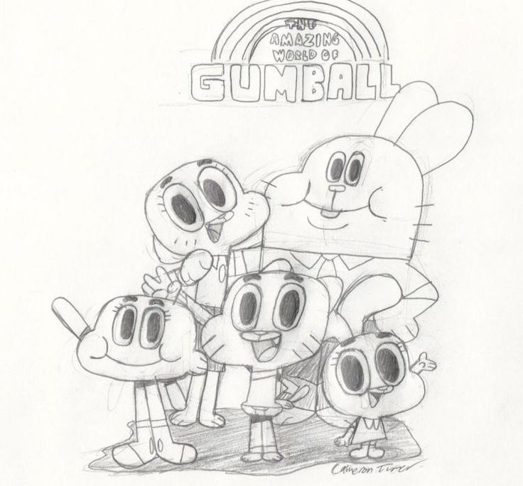 The amazing world of Gumball coloring pages for kids