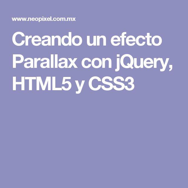 Creando un efecto Parallax con jQuery, HTML5 y CSS3