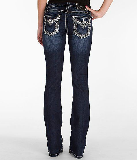 Miss Me Boot Stretch Jean - Women's Jeans | Buckle Miss Me's are fitted so I would have to go up a size in the waist to get the right fit in the thigh and they aren't cheap...$99 Size 30 X 37