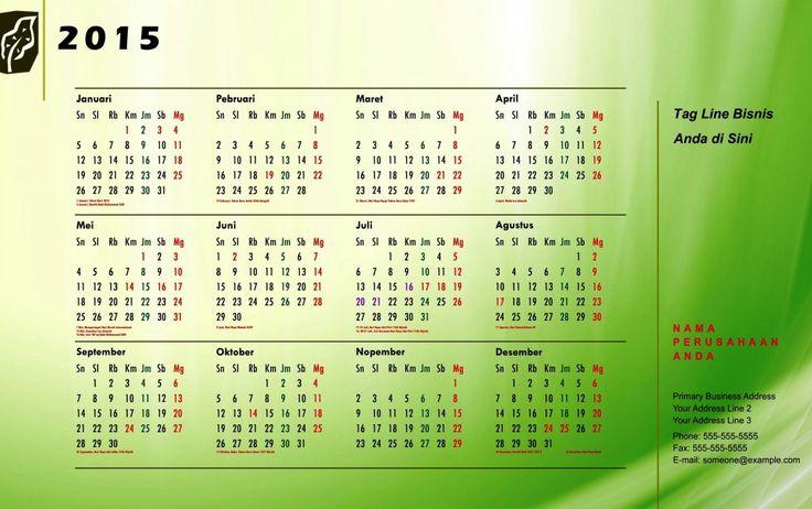 Kalender 2015 Indonesia - Design_29_Organic