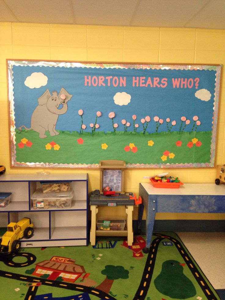 Classroom Door Decoration Ideas For Preschool ~ Senses bulletin board horton quot hears a who teaching