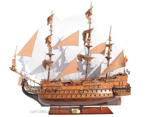"Hotel Lobby Size XL 1690 San Felipe 88"" Wooden Tall Ship Model Spanish Galleon With Free Shipping!"