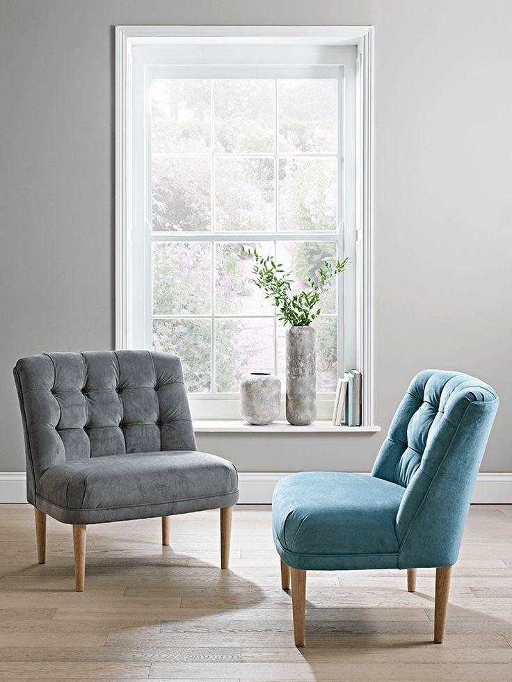 NEW Florentine Velvet Chair - Blue - NEW FOR AUTUMN