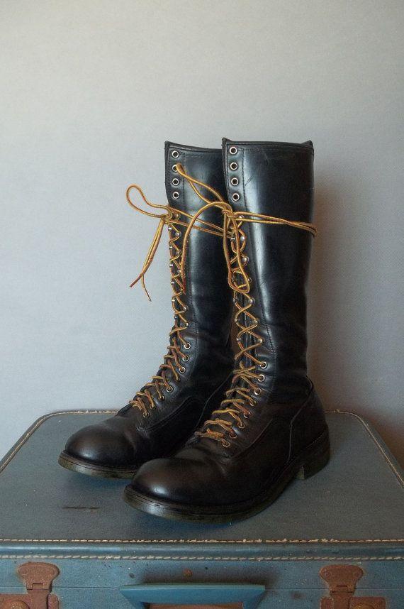 MENS Vintage RED WING Lineman Boots.  Men size 10.5 (44.5 Euro) via Etsy