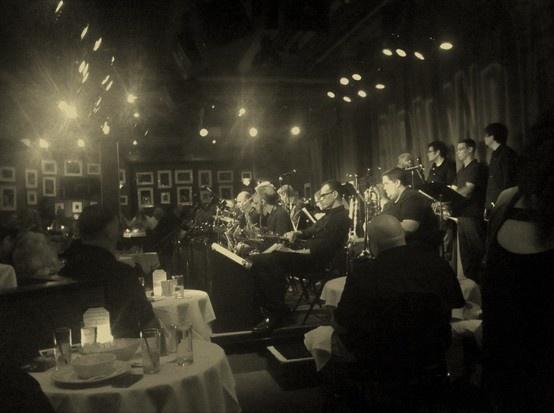 Jazz orchestra, Birdland, New York