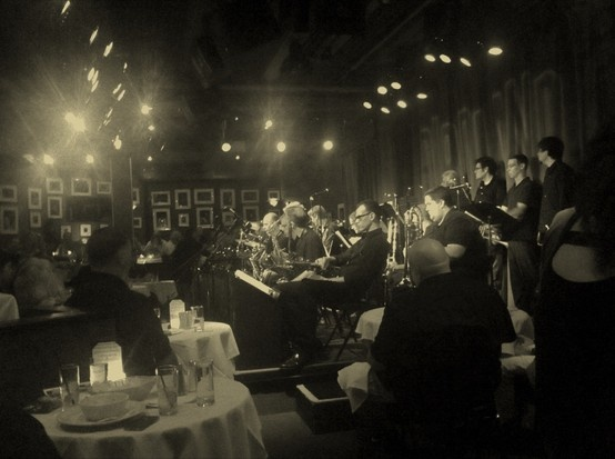 Jazz orchestra, Birdland, New York